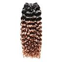 ieftine Alte instrumente-1 pachet Păr Indian Buclat / Jerry curl Păr Natural Ombre 12-16 inch Ombre  Umane Țesăturile de par Umane extensii de par