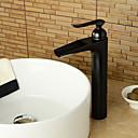 preiswerte Handtuchhalter-Waschbecken Wasserhahn - Vorspülung / Verbreitete / drehbar Antikes Kupfer Mittellage Einhand Ein LochBath Taps