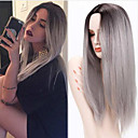 cheap Synthetic Capless Wigs-ombre grey wigs female wig ombre grey synthetic wigs for black women long straight hair heat resistant cheap synthetic wigs