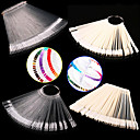 cheap Nail Practice & Display-1set false display nail art fan wheel polish practice tip sticks nail art 50pcs 100 top good