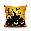 billige Halloweenprodukter-1 stk Lin Putecover, Grafiske trykk Dekorativ