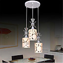 tanie Lampy wiszące-3 światła Lampy widzące Światło rozproszone Galwanizowany Metal Szkło Styl MIni, LED, projektanci 110-120V / 220-240V Zawiera żarówkę / E26 / E27