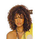 cheap Synthetic Capless Wigs-Synthetic Wig Curly Synthetic Hair Brown Wig Capless