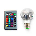 お買い得  LEDスマート電球-3.5W 200-300lm E14 E26 / E27 B22 LEDスマート電球 G60 1 LEDビーズ 集積LED 調光可能 装飾用 リモコン操作 RGB 85-265V