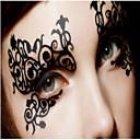 abordables Adhesivos de Pared-1 pcs Non Toxic / Modelo / Halloween Los tatuajes temporales Encaje / Halloween Artes de cuerpo Rostro