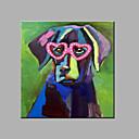 billige Brudesjaler-Hang malte oljemaleri Håndmalte - Pop Kunst Moderne Inkluder indre ramme / Stretched Canvas