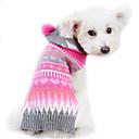 voordelige Pet Christmas Costumes-Hond Truien Hondenkleding Gestreept Wollen Kostuum Voor huisdieren Heren Dames Schattig Houd Warm