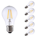 cheap LED Corn Lights-GMY® 6pcs 4 W 550/400 lm E26 / E27 LED Filament Bulbs A60(A19) 4 LED Beads COB Dimmable Warm White / Cold White 220-240 V / 6 pcs / RoHS