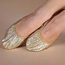 billige Dansesneakers-Dame Moderne sko Lerret Flate Flat hæl Kan ikke spesialtilpasses Dansesko Gylden / Trening