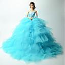 זול מזכרות שימושיות-חתונה שמלות ל ברבי דול תחרה אורגנזה שמלה ל הילדה של בובת צעצוע
