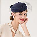 billige Hodeplagg til fest-Ull / Nett Kentucky Derby Hat / fascinators / Hatter med Blomster 1pc Bryllup / Spesiell Leilighet / Avslappet Hodeplagg
