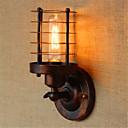 baratos Extensões de Cabelo Natural-Rústico / Campestre / Regional Luminárias de parede Metal Luz de parede 110-120V / 220-240V 40W