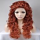 billige Motearmbånd-Syntetiske parykker Afro / Kinky Curly Syntetisk hår Rød Parykk Dame Lang / Veldig lang Lokkløs Blond