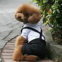 billige Hundeklær-Hund Kostume Smoking Hundeklær Fargeblokk Svart/Hvit Terylene Kostume For kjæledyr Herre Cosplay Bryllup