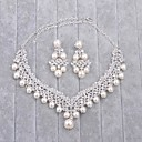 cheap Travel Bags & Hand Luggage-Women's Imitation Pearl / Rhinestone Jewelry Set - Include Silver For Wedding