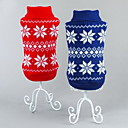cheap Storage & Organization-Cat Dog Sweater Christmas Dog Clothes Snowflake Red Blue Cotton Costume For Pets Men's Women's Classic New Year's Christmas
