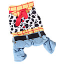 cheap Dog Clothes-Dog Costume Jumpsuit Dog Clothes Jeans Rainbow Cotton Costume For Pets Men's Women's Cowboy Fashion
