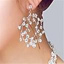 abordables Pendientes-Mujer Cristal Pendientes colgantes - Transparente Para Boda Fiesta