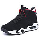 זול נעלי ספורט לגברים-בגדי ריקוד גברים עור נובוק / סוויד סתיו / חורף נוחות נעלי אתלטיקה כדורסל שחור / שחור אדום