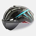 preiswerte Radhelme-FTIIER Erwachsene Fahrradhelm mit Schutzbrille Aero Helm 18 Öffnungen ASTM Stoßfest, Leichtes Gewicht, Einstellbare Passform EPS, PC Sport Straßenradfahren / Radsport / Fahhrad / Geländerad - Blau