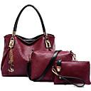 preiswerte Taschensets-Damen Taschen PU Bag Set 3 Stück Geldbörse Set Wein / Hellblau / Dark Gray / Beutel Sets