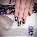 cheap Nail Stickers-christmas snowflake holographic nail foils nail art transfer sticker paper