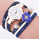 cheap Temporary Tattoos-Women's Bracelet Watch Hot Sale / Cool / / PU Band Flower / Casual / Fashion Black / White / Blue