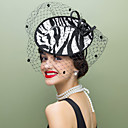 cheap Party Headpieces-Wool / Fabric / Net Fascinators / Hats with 1 Wedding / Special Occasion / Casual Headpiece