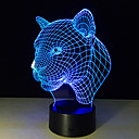 abordables Lámparas de Noche-1 pieza Luz nocturna 3D Control remoto Visión nocturna Tamaño Pequeño Color variable Artístico LED Moderno/Contemporáneo