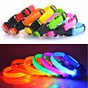 preiswerte Halsbänder, Geschirre und Leinen für Hunde-Katze / Hund Halsbänder LED-Lampen / Regolabile / Einziehbar Solide Nylon Blau / Rosa / Regenbogen