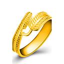 baratos Braceletes-Mulheres Anel - Chapeado Dourado Formato de Folha Tamanho Único Dourado Para Casamento / Festa / Diário