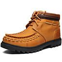 halpa Synteettiset peruukit ilmanmyssyä-Miesten kengät Nappanahka Syksy / Talvi Comfort / Cowboy / bootsit / Talvisaappaat Bootsit Vaellus Tumman ruskea / Juhlat / Moottoripyöräsaappaat