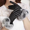 cheap Party Gloves-Women's Party / Work PU Wrist Length Fingertips Gloves / Cute / Winter