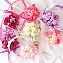 "cheap Jewelry Sets-Wedding Flowers Wrist Corsages Unique Wedding Décor Special Occasion Party / Evening Cotton 1.18""(Approx.3cm)"