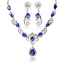 cheap Jewelry Sets-Women's Synthetic Sapphire / Synthetic Ruby / Synthetic Diamond Jewelry Set - Angel Wings Include Black / Red / Blue For Party / Daily / Casual
