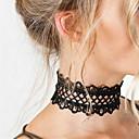 halpa Chocker-kaulakorut-Naisten Choker-kaulakorut / Statement kaulakorut / Tattoo Choker - Pitsi Suuri, Tatuointi, Muoti Valkoinen, Musta Kaulakorut Käyttötarkoitus Joululahjat, Party, Syntymäpäivä