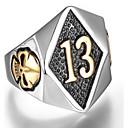 olcso Férfi gyűrűk-Férfi Gyűrű - Titanium Acél Koponya Punk 8 / 9 / 10 / 11 / 12 Ezüst / Aranyozott Kompatibilitás Napi