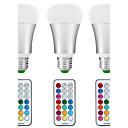 abordables Bombillas LED Inteligentes-3pcs 8.5W 880lm E26 / E27 Bombillas LED de Globo A80 1 Cuentas LED COB Con Sensor Sensor de infrarrojos Regulable Impermeable Decorativa