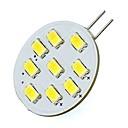 olcso Bajonettzáras LED lámpák-2 W 420 lm G4 LED betűzős izzók Cső 9 led SMD 5730 Hideg fehér