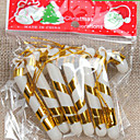 preiswerte Weihnachtsdeko-6pcs den Christbaumschmuck kleine Zuckerstangen 7cm zufällige Farbe