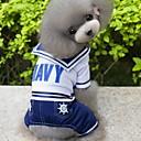 halpa Koiran vaatteet-Koira Asut Haalarit Koiran vaatteet Merimies Tumman sininen Puuvilla Asu Lemmikit Miesten Cosplay Muoti