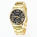 ieftine Ceasuri La Modă-Bărbați Ceas de Mână Quartz Oțel inoxidabil Auriu Ceas Casual / Analog Casual - Alb Negru Un an Durată de Viaţă Baterie / Jinli 377
