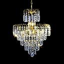 billige Takvifter-SL® 6-Light Krystall Lysekroner Nedlys / Omgivelseslys galvanisert Krystall, Stearinlys Stil 110-120V / 220-240V Pære ikke Inkludert / E12 / E14