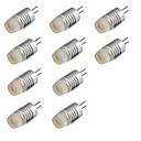 preiswerte LED Glühbirnen-10 Stück 1W 200lm G4 LED Doppel-Pin Leuchten T LED-Perlen Hochleistungs - LED Warmes Weiß Kühles Weiß 12V