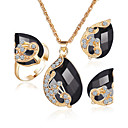 cheap Clutches & Evening Bags-Women's Crystal Synthetic Sapphire Synthetic Emerald Jewelry Set - Crystal, Rhinestone, Gold Plated Include Rings Set Green / Blue / White / White For Wedding Party / Synthetic Diamond