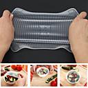 hesapli Kupalar ve Bardaklar-4 adet silikon gıda taze sarar taze kullanımlık mühür kapak tutmak