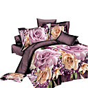 cheap Floral Duvet Covers-Duvet Cover Sets 3D Polyester Reactive Print 4 PieceBedding Sets / 4pcs (1 Duvet Cover, 1 Flat Sheet, 2 Shams)