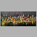 abordables Cuadros de Flores/Botánica-Pintura al óleo pintada a colgar Pintada a mano - Abstracto Modern Lona / Lona ajustada
