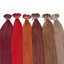cheap Fusion Hair Extensions-Fusion / I Tip Human Hair Extensions Straight Human Hair Women's Daily