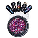 billige Strass og dekorasjoner-1pcs Rhinestones Smuk Neglekunst Manikyr pedikyr Bryllup / Neon & Bright